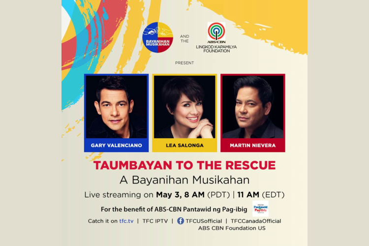 Taumbayan to the Rescue: A Special Bayanihan Musikahan – raising funds and lifting spirits